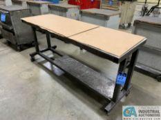 2' X 6' HEAVY DUTY STEEL TABLE W/ CASTERS