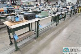 "METAL FRAME TABLES; (5) 72"" X 24"" AND (1) 36"" X 24"" **DELAYED REMOVAL - PICKUP 1-27-21**"