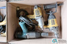 """(LOT) (2) 1/2"""" DEWALT AND (1) 3/4"""" MAKITA IMPACT WRENCHES"""