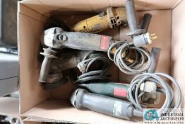 """4-1/2"""" 7"""" METABO ELECTRIC RIGHT ANGLE GRINDERS 4-1/2"""" RYOBI RIGHT ANGLE GRINDER WITH CASE"""
