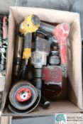 (LOT) PNEUMATIC TOOLS INCLUDING (2) IMPACT WRENCHES, (2) GRINDERS, STAPLE GUN