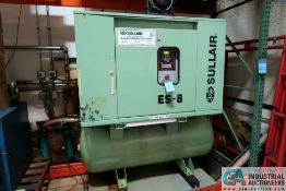 30 HP SULAIR MODEL ES8 30H/A/SUL ROTARY SCREW AIR COMPRESSOR; S/N 003-123342 **Loading Fee Due the