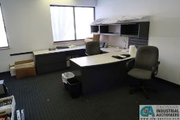 CONTENTS OF OFFICE INCLUDING U-SHAPED DESK, TABLE **OFFICE FURNITURE ONLY - NO ELECTRONICS**