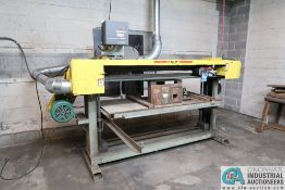 "6"" WIDE X 90"" BELT G&P MACHINERY MODEL UNKNOWN HORIZONTAL BELT SANDER; *ERRA LOADING FEE - $300.00*"