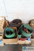 SKID MISCELLANEOUS SIZE SANDING BELTS