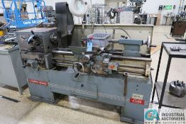 """14"""" X 40"""" CLAUSING-METOSA MODEL C1440 ENGINE LATHE; S/N N/A, COLLET CHUCK, 8"""" 3-JAW CHUCK, SPINDLE"""