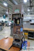 20 TON MORGAN MODEL G-100T PLASTIC INJECTION MOLDING PRESS; S/N 7396, SINGLE PHASE