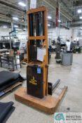 1,500 LB. CAPACITY BIG JOE MODEL 1524-12T WALK BEHIND ELECTRIC LIFT