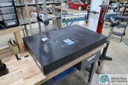 """36"""" X 24"""" X 6"""" GRANITE SURFACE PLATE WITH MITUTOYO ABSOLUTE DIGITAL INDICATOR"""
