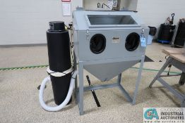 """36"""" LONG X 24"""" WIDE X 24"""" HIGH CYCLONE MFG ABRASIVE BLAST CABINET WITH DUST COLLECTOR"""
