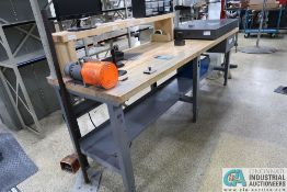 """72"""" X 30"""" LIGHTED MAPLE TOP BENCH WITH 1/12 HP MOTORIZED DRILL"""