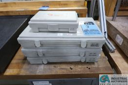 """VERMONT PIN GAGE SETS, .0110"""" - .060"""", (2) .0610"""" - .2500"""", .2510"""" - .5000"""""""