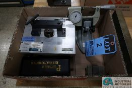 (LOT) MISCELLANEOUS INSPECTION INCLUDING CHECK FIXTURE, MICROMETER, ANGLE PLATES