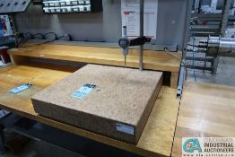 """24"""" X 24"""" X 4"""" GRANITE SURFACE PLATE WITH MITUTOYO ABSOLUTE DIGITAL INDICATOR"""