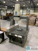 "IMPACT CMM; S/N 500183, 42"" X 50-1/2"" DRILLED & TAPPED GRANITE TABLE, 23"" UNDER BRIDGE,**Loading Fee"