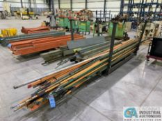 "(LOT) 60"" X 84"" H.D. STEEL FRAME CART W/ APPROX. (20) SECTIONS OF 18' CRANE RACEWAY, (3) 10' LONG"