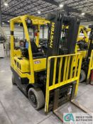 2018 / 5,000 LB. HYSTER MODEL S50FT LP GAS CUSHION TIRE LIFT TRUCK; S/N H187V04681, 3-STAGE MAST,