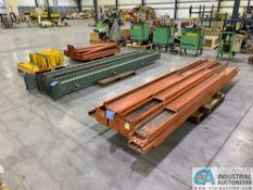 "(LOT) DISASSEMBLED CANTILEVER RACK; (4) 144"" UPRIGHTS, (28) 60"" ARMS, (1) SKID OF SUPPORT CHANNEL"