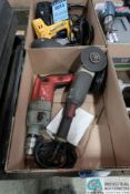 """(LOT) 1/2"""" MILWAUKEE ELECTRIC DRILL AND TASK FORCE ANGLE GRINDER"""