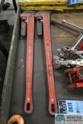 """48"""" RIDGID PIPE WRENCHES"""