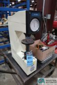 CV INSTRUMENTS MODEL CV-600A ROCKWELL HARDNESS TESTER; S/N 15227, WITH CASE AND EXTRA BLOCKS