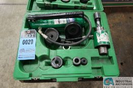 GREENLEE HYDRAULIC MODEL 767 KNOCK-OUT KIT