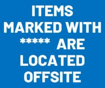 Lots marked with **** are located offsite, see description for location