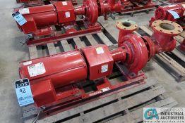 15 HP BELL AND GOSSETT SIZE 1510 MODEL 2314 WATER PUMP; S/N CP4564-01B30, 175 MAX WATER PRESSURE