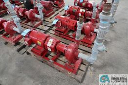 7.5 HP BELL AND GOSSETT SIZE 1510 BF 7 1.5AC WATER PUMP; S/N 1BF180-B40, 7.5 HP BALDOR ELECTRIC