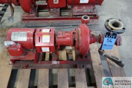 1 HP BELL AND GOSSETT SIZE 1510 BF 6.25-1.25AC WATER PUMP; S/N C124045-02C11, 1 HP CENTURY