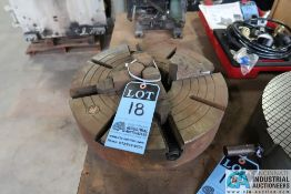 """16"""" BTC FOUR JAW CHUCK, SIX PIN BACK 3-1/2"""" CENTER TO CENTER ON PINS"""
