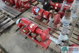 7.5 HP BELL AND GOSSETT SIZE 1510BF 5.5 1.5 AC WATER PUMP; S/N C053637-01L70, 7.5 HP BALDOR ELECTRIC