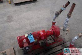 7.5 HP BELL AND GOSSETT SIZE 1510 BF 5.500 1.5 AC WATER PUMP; S/N CS7123-01H40, 7.5 HP BALDOR