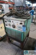 400 AMP LINDE MODEL V1400 CV-DC WELDING POWER SUPPLY; S/N D80D16993, WITH STAND, 3 PHASE, 230/460