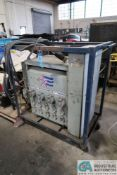 25 KVA AMERICAN POWER SERVICE PORTABLE POWER STATION WITH 480 VOLTS, 3 PHASE CONNECTIONS, 220 VOLTS,