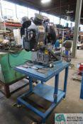 1/2 HP MFG UNKNOWN DUAL SIDE TABLE MOUNTED GROMMET MACHINE; S/N N/A