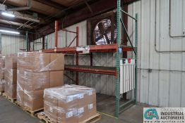 """SECTIONS 108"""" X 48"""" X 120"""" LONG ADJUSTABLE BEAM PALLET RACK **Rigging Fee Due $70.00**"""