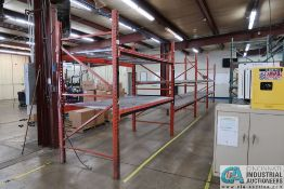 """SECTIONS TOTAL (1) 96"""" X 48"""" X 96"""" LONG AND (3) 108"""" X 48"""" X 96"""" LONG ADJUSTABLE BEAM PALLET RACK *"""