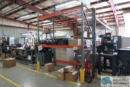"""SECTION 96"""" X 48"""" X 120"""" LONG ADJUSTABLE BEAM PALLET RACK **Rigging Fee Due $35.00**"""