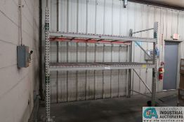 """SECTION 108"""" X 44"""" X 96"""" LONG ADJUSTABLE BEAM PALLET RACK **Rigging Fee Due $35.00**"""
