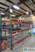 """SECTION 96"""" X 48"""" X 96"""" LONG ADJUSTABLE BEAM PALLET RACK **Rigging Fee Due $35.00**"""