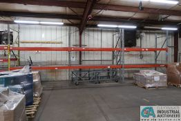 """SECTIONS 108"""" X 48"""" X 120"""" LONG ADJUSTABLE BEAM PALLET RACK **Rigging Fee Due $105.00**"""