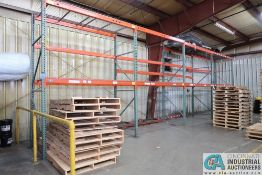 """SECTIONS 108"""" X 48"""" X 144"""" LONG ADJUSTABLE BEAM PALLET RACK **Rigging Fee Due $140.00**"""