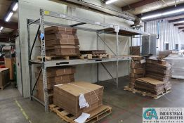 """SECTIONS 112"""" X 44"""" X 96"""" LONG ADJUSTABLE BEAM PALLET RACK **Rigging Fee Due $70.00**"""