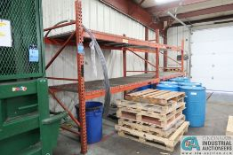 """SECTIONS 108"""" X 48"""" X 96"""" LONG ADJUSTABLE BEAM PALLET RACK **Rigging Fee Due $70.00**"""