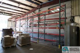 """SECTIONS 108"""" X 48"""" X 168"""" LONG ADJUSTABLE BEAM PALLET RACK **Rigging Fee Due $175.00**"""