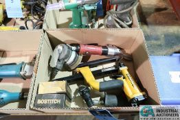 (LOT) PNEUMATIC TOOLS INCLUDING PALM SANDER, BOSTITCHX STAPLER, NEIKO SHEAR, NORTHERN INDUSTRIAL