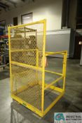 "36"" X 36"" X 46"" X 1,000 LB. I&S EQUIPMENT LIFT TRUCK MAN-CAGE"