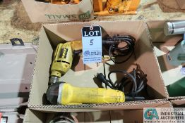(LOT) DEWALT ELECTRIC DRILL AND ANGLE GRINDER