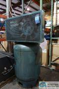 10 HP CURTIS-TOLEDO MODEL E-71 CHALLENGE AIR VERTICAL TANK AIR COMPRESSOR; S/N A58110354 **LOADING